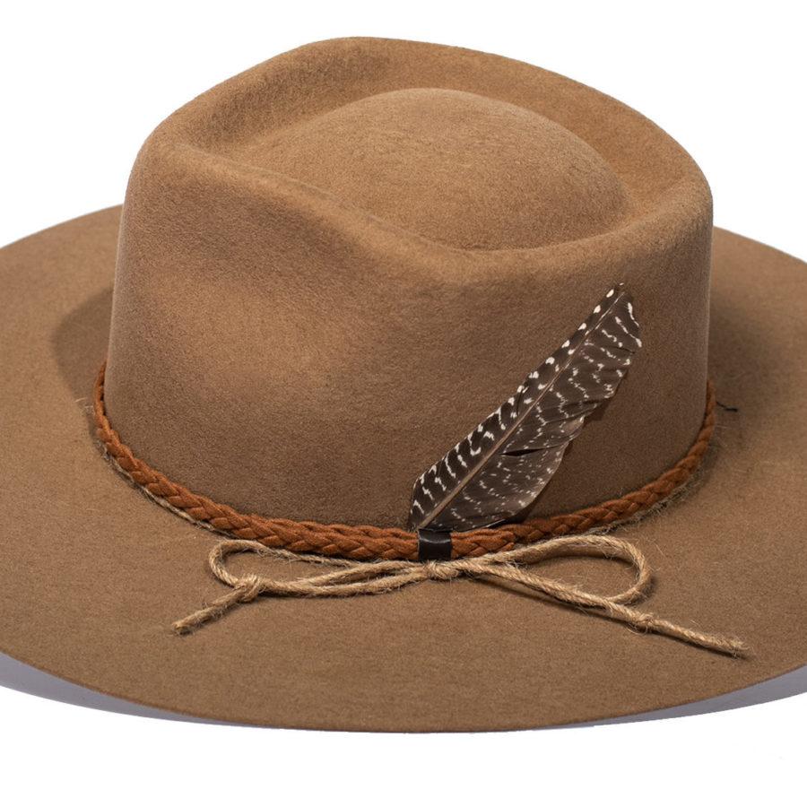 Kahlo Light Brown Hat